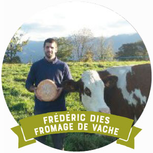 Frederic Dies est producteur de fromage de vache bio à Ogeu