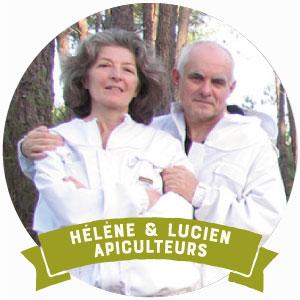 Helene et Lucien Simon apiculteurs miel bio en aquitaine